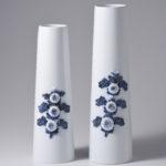 平戸菊花飾長形花瓶