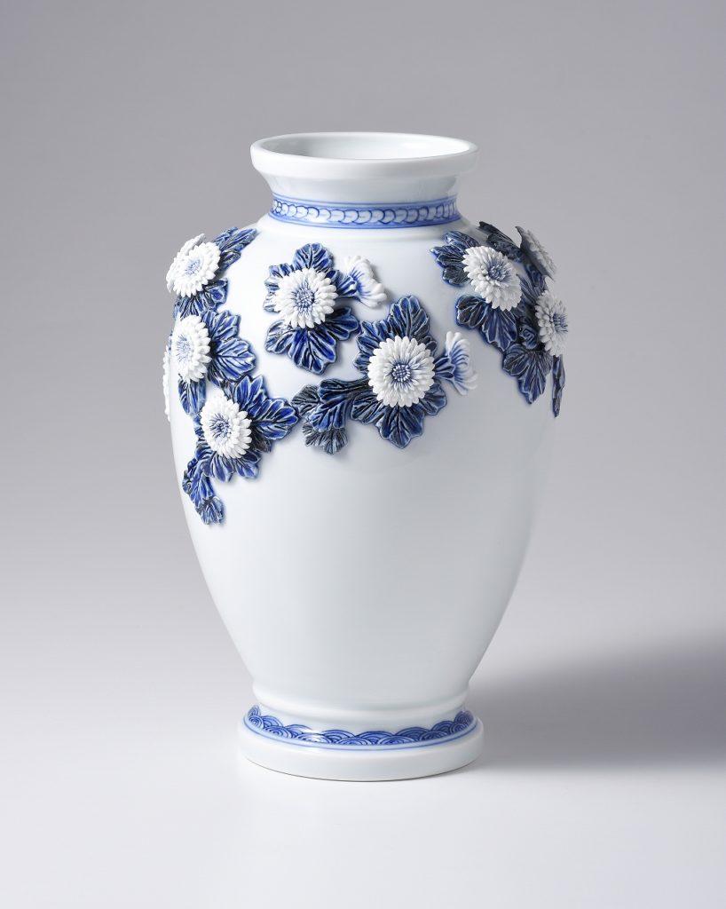 叙勲記念 平戸菊花飾花瓶